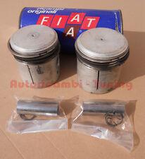 2 PISTONI COMPLETI X FIAT 500-126 600cc Ø 73,5mm +4/10 ORIGINALI FIAT