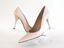 DESIGNER STUART WEITZMAN NUDE PINK LEATHER POINTY TOE HIGH HEEL PUMPS SIZE 8.5M