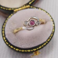 Platinum Ruby Vintage Fine Rings