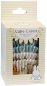 100 x Miffy Cake Cases Baby Shower Birthday Tableware Supplies Bunny Cupcake