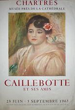 Caillebotte affiche lithographie Mourlot 1965 Musée de Chartres