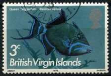 """British Virgin Islands 1972 SG#332, 3c Fish Definitive Cto """"1975"""" Imprint#D71972"""
