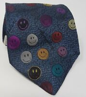 Cravatta Moschino 100% pura seta tie silk original made in italy handmade smile