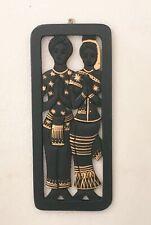 Wood Carve Wall Hanging Picture Asian Door Decor Thai LANNA Art Men & Women