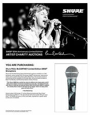 Shure and Paul McCartney * sm58 Microphone * 50th Anniversary Limited Edition