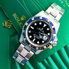 Rolex GMT Master II 2 116710 BLNR Batman Custom Diamond set 2017