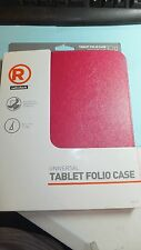 """PINK Universal Folio Stand Case Cover For 7"""" to 8"""" Inch Tablet eReader Device"""
