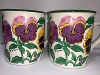 Vintage Potpourri Designs Coffee Mug Tea Cup LOT OF TWO Made Korea 1991 A6-56