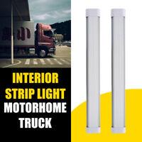2x White LED Strip Light Ceiling Light For Truck Caravan Camper Motorhome DC24V