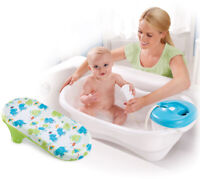 Infant Bath Tub Newborn Babies Toddler Child Blue Synthetic Motorized Shower NEW