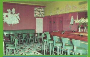 Miami Beach, Fl/ Bay Harbor Hotel and Yacht Club/stools/bar/ chrome postcard