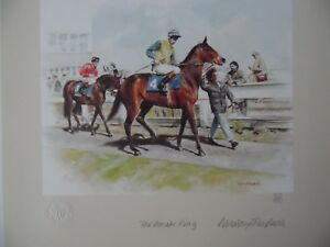 Mandy Shepherd Signed LE Print Horse Racing The Parade Ring. Listed