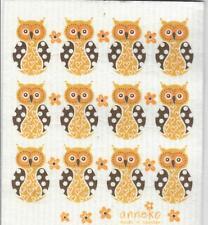 Dish Cloth, Yellow Owl - Swedish Design