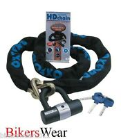 OXFORD HD Chain Lock 2m Heavy Duty Motorcycle Security Chain & Padlock- Security