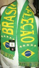 SCHAL BRASILIEN FANSCHAL FUßBALL WM BRAZIL FAHNE FLAGGE FLAG BRASIL BANDEIRA