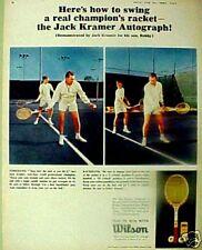 1965 Jack Kramer Wilson Autograph Wood Tennis Rackets Trade Magazine Sports Ad