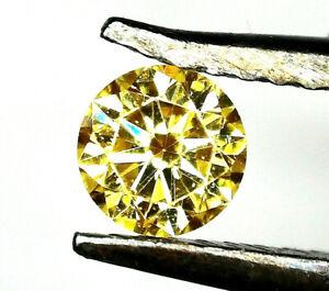 1x Diamant - Brilliant Gelb Fancy 3,0mm (4000FF)