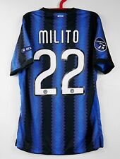 INTER MAGLIA  HOME 2010-2011  TRIPLETTE  FULL PATCH UCL DIEGO MILITO 22
