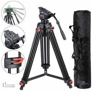 Adjustable 71in Photo Tripod Stand DV Video Camera Studio Live Stream Aluminum
