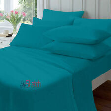 100% EGYPTION COTTON FITTED 23CM EXTRA DEEP FITTED 40CM FLAT PERCALE SHEETS,YAW