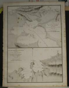 WAIGEO WEST PAPUA INDONESIA 1826 DUPERREY UNUSUAL ANTIQUE LITHOGRAPHIC CHART