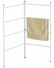 2 FOLD AIRER CLOTHES GATE  INDOOR OUTDOOR HORSE RACK LAUNDRY RAIL DRYER WASHING