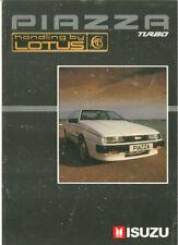 "Catalogue brochure prospekt Isuzu Piazza Turbo ""handling by Lotus"" c. 1988 UK"