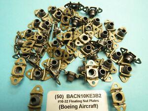 #10-32 Boeing BACN10KE3B2 Floating Anchor Nutplate Lot of 50 Aircraft Aerospace