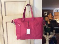 "MARC BY MARC JACOBS Tote Bag ""Preppy"" Nylon Eliz-a-baby Fuchsia Large"