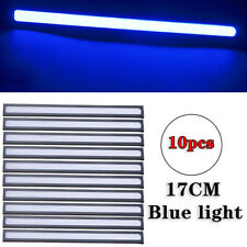10Pcs Blue 12V LED Strip DRL Daytime Running Lights Fog COB Car Lamp Waterproof