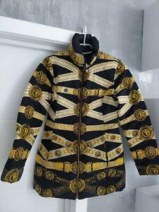 Gianni Versace Versus Reversible Womens Puffy Coat Jacket Puffer Bomber Padded