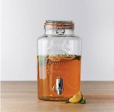 Kilner 5 Litre Clip Top Round Drinks Water Dispenser Kitchen Party Jar Container
