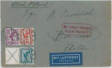 Germany REICH - AIRMAIL COVER to ITALY  1932  - BIRDS
