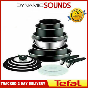 Tefal 14 Piece INGENIO Essential Non-stick Pots & Frypan Cookware Set Black