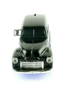 Erlt GMC 1951 Black True Value Hardware Black Truck Coin Bank Saving USA Seller