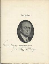 U.S. ATTORNEY GENERAL HOMERS CUMMINGS SIGNED 1936 FEDERAL BAR ASSOC. PROGRAM