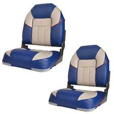 Premium Centurion Gray / Blue Boat Folding Seat (Pair) 75129GB