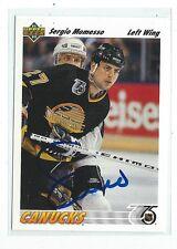 Sergio Momesso Signed 1991/92 Upper Deck Card #571