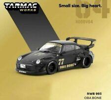 Tarmac Works Porsche RWB 993 OBA BONE #77 Black & Gold Japan 1/64