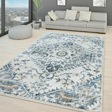 Modern Rug Shabby Chic Design Rugs Living Room Classic Ornaments Carpet Blue