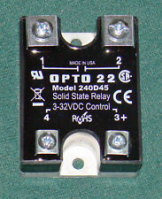 Opto 22 Solid State Relay SS 3-32VDC Control Model 240D45 Rated for 45A New USA