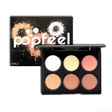 6 colores de sombra de ojos maquillaje impermeable Pearl Eyeshadow Palette TD66