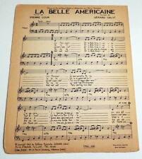 Partition sheet music CALVI / COUR / PIERRE TCHERNIA La Belle Américaine * 60's