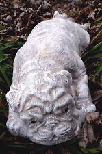 Plastic pug dog mold plaster concrete garden mould poly plastic