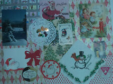 Vintage Christmas Holiday Ephemera Craft Kit Junk Journal Collage Scrapbooking