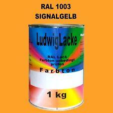SIGNALGELB 1kg AUTOLACK Lack Profi Qualität RAL1003 GLÄNZEND HAMMERPREIS & Porto