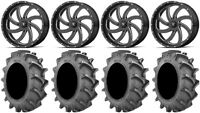 """MSA Milled Switch 20"""" Wheels 35x8.3 BKT 171 Tires Can-Am Renegade Outlander"""