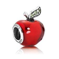 PANDORA Sterling Silver Disney Snow White's Apple Charm S925 ALE 791572EN73