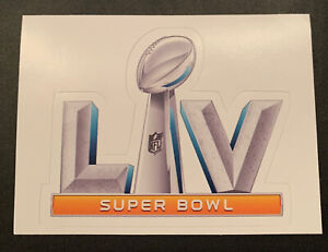 "NFL Super Bowl LV 55 Football Helmet Sticker Superbowl 2.75"" x 3.5""  Bucs Chiefs"