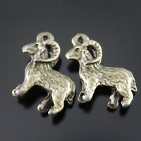 30pcs Antiqued Bronze Vintage Alloy Goat Sheep Pattern Pendant Charms Jewelry